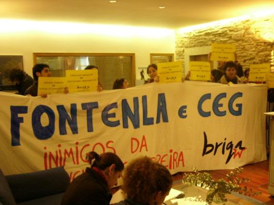 Ocupaçom da CEG em Compostela