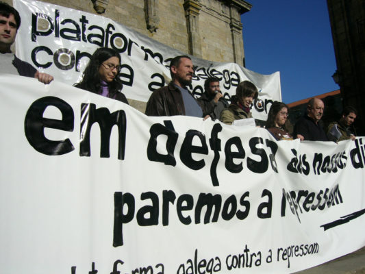 Protesto pola detençom de jovens independentistas