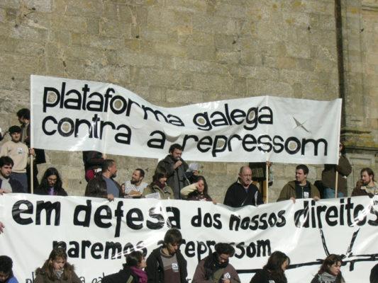 Junto com militantes da AMI detid@s na Op. Castinheira e mais membr@s da esquerda independentista